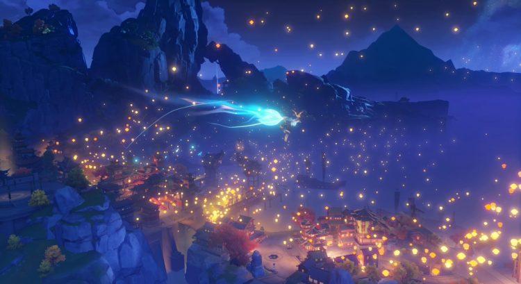 Genshin Impact Fiebre festiva Resplandor de mil linternas que se iluminan en el mar 2