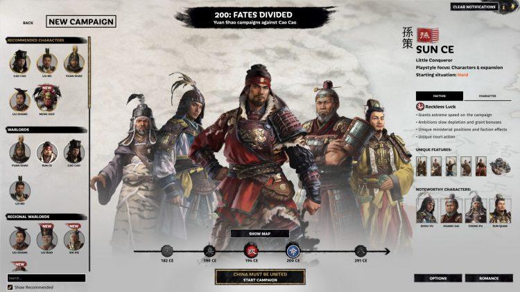 Total War Three Kingdoms Fates Divided Sun Ce Guía 1a