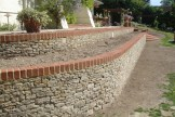 Stone wall before planting