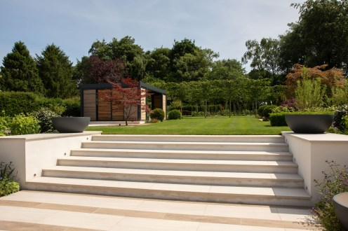 Steps garden design in Winchester