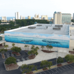 "The ""Whaling Wall"" mural on the Myrtle Beach Convention Center celebrates local marine life."