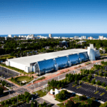 The Virginia Beach Convention Center reflects its coastal setting.