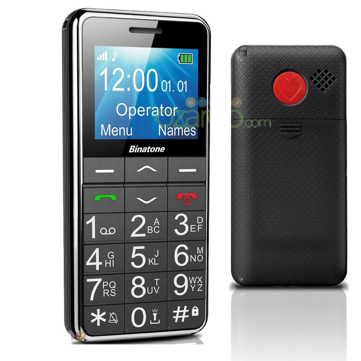 binatone big button mobile phone for senior citizen pcmacs. Black Bedroom Furniture Sets. Home Design Ideas