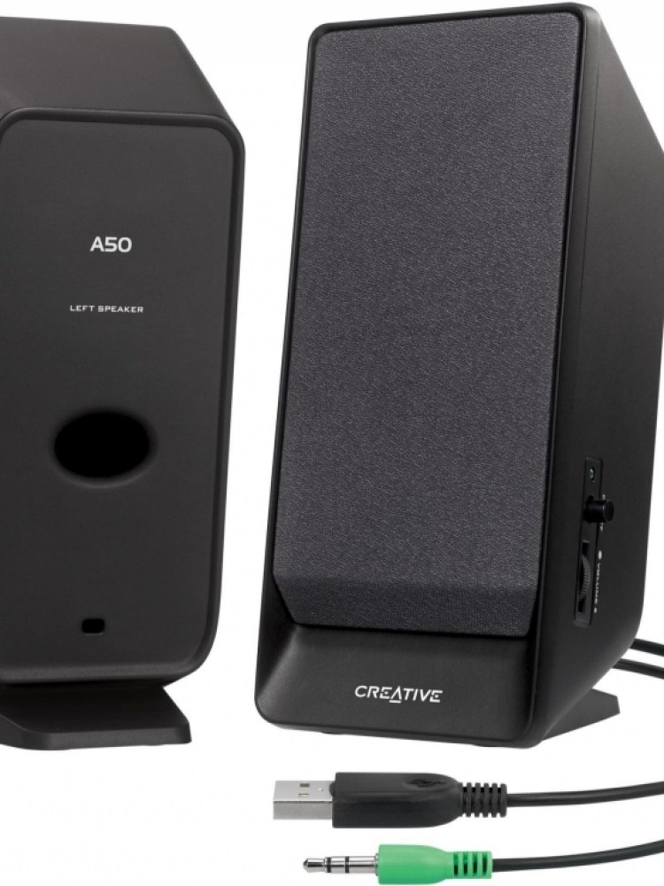 BOXE 2.0 CREATIVE  'Inspire A50', RMS: 0.8Wx2, black, USB power '51MF1675AA001' (include timbru verde 0.01 lei)