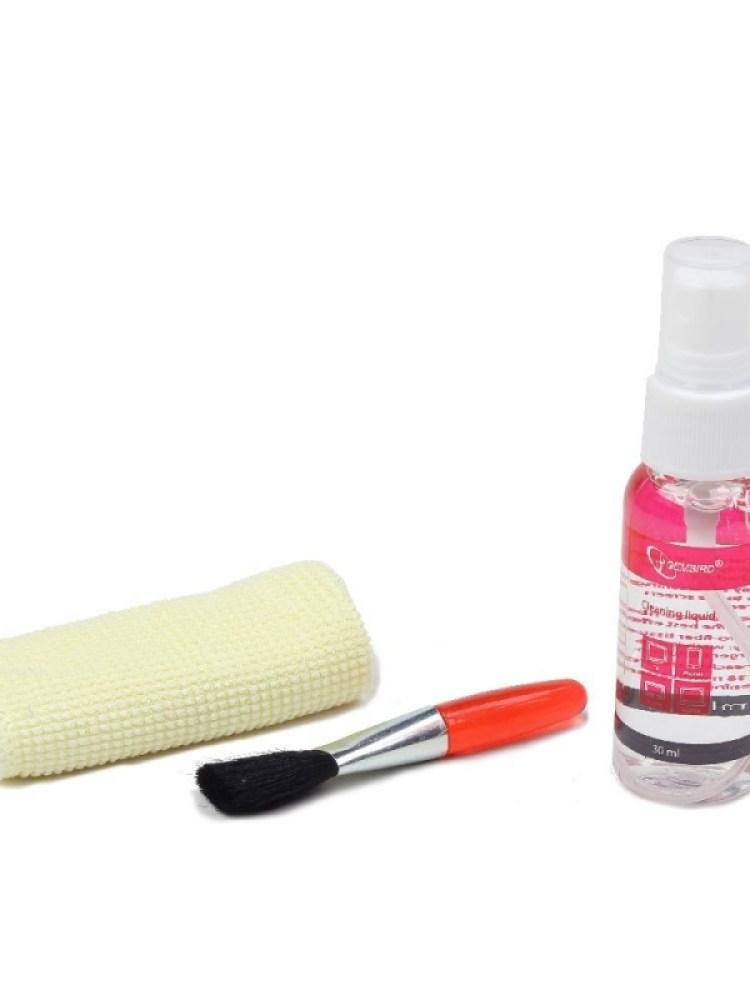 Kit curatare LCD 3-in-1 - solutie curatare, pensula, servetel microfibra, Gembird 'CK-LCD-002' 'ACC-GEM0205004'