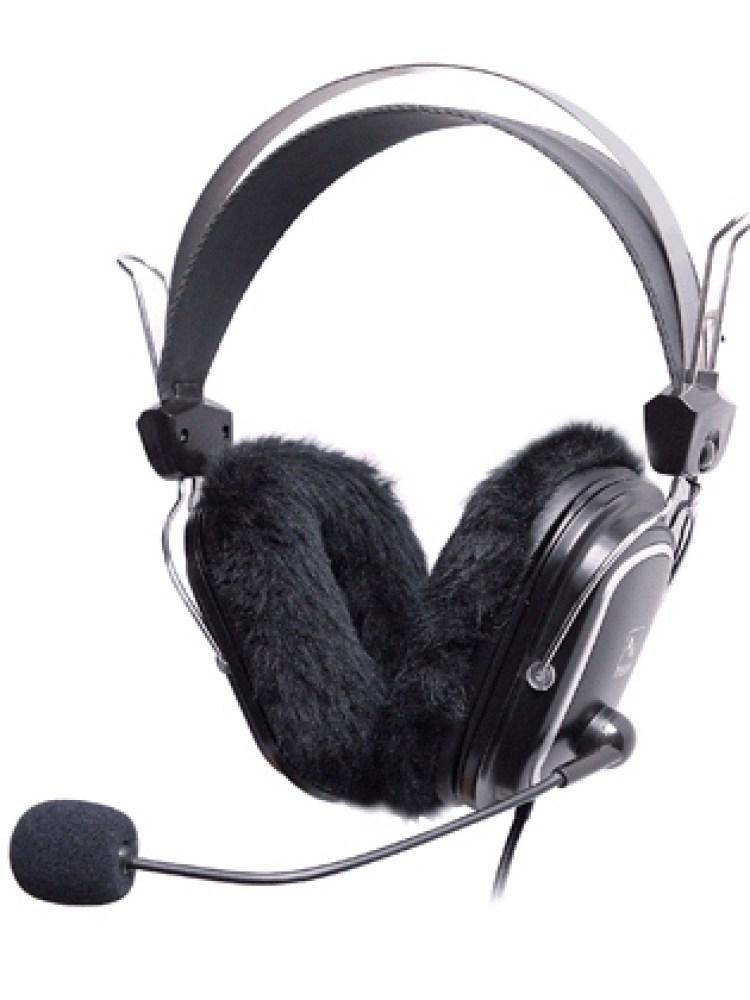 Casti A4TECH  Stereo, microfon pe casca, control volum pe fir, pernute pentru sezonul rece, 'HS- 60'