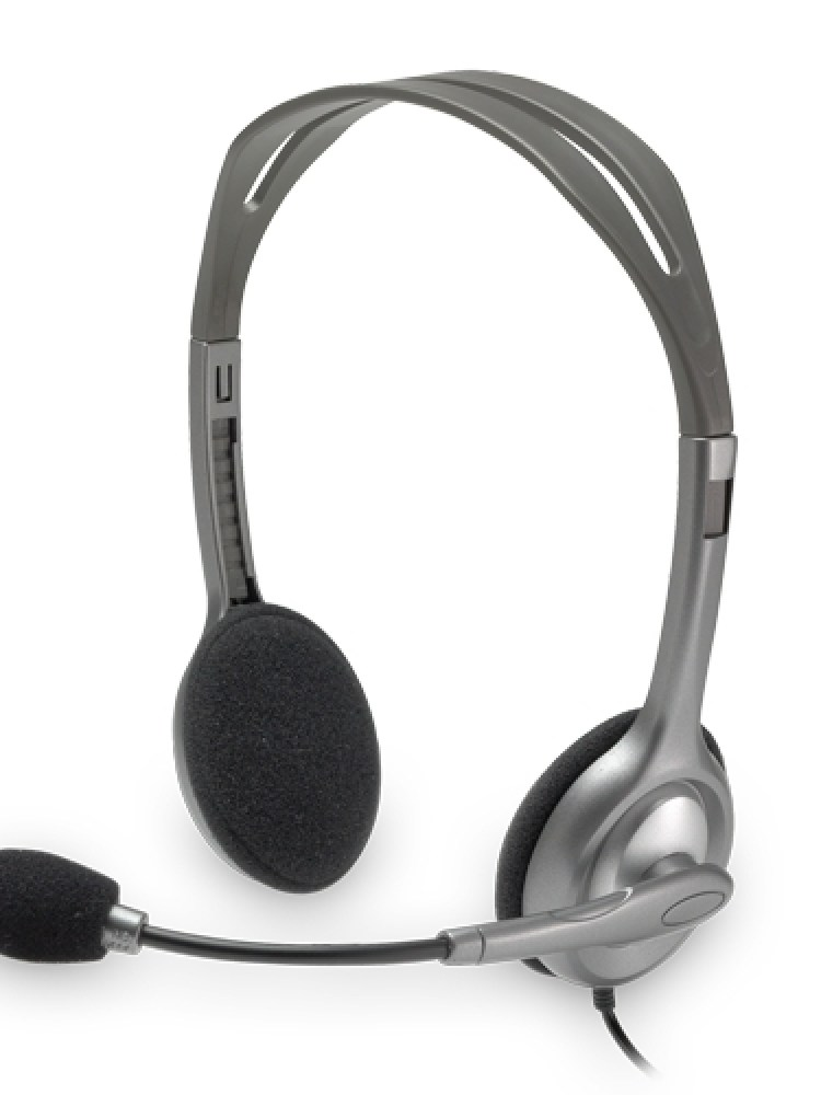 Casti Logitech  'H110' Stereo Headset with Microphone '981-000271'  (include timbru verde 0.01 lei)