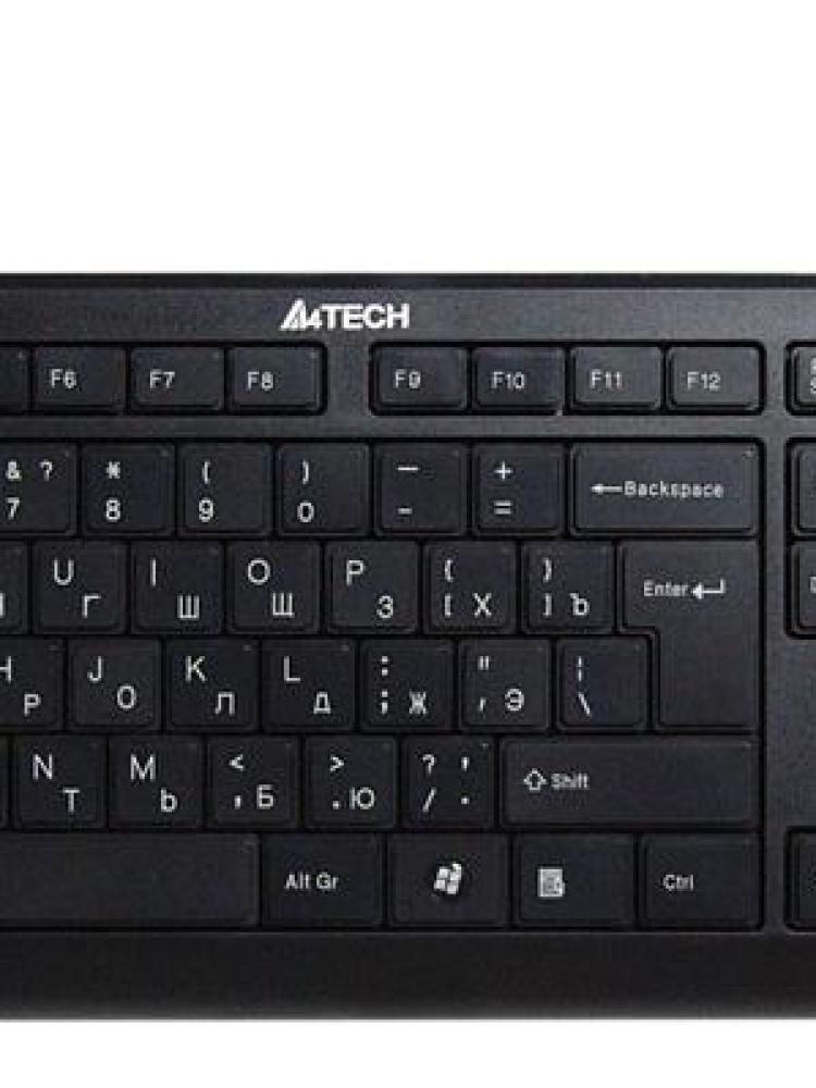 Tastatura A4TECH ; model :KD-600 X-SLIM ; layout :US ; NEGRU ; USB