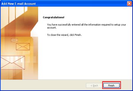Outlook setup complete