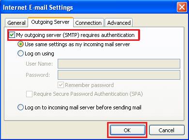 SMTP Outlook