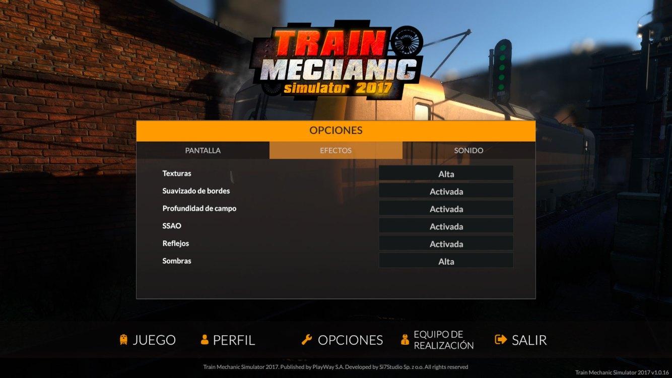 Train Mechanic Simulator 2017 Análisis Ajustes