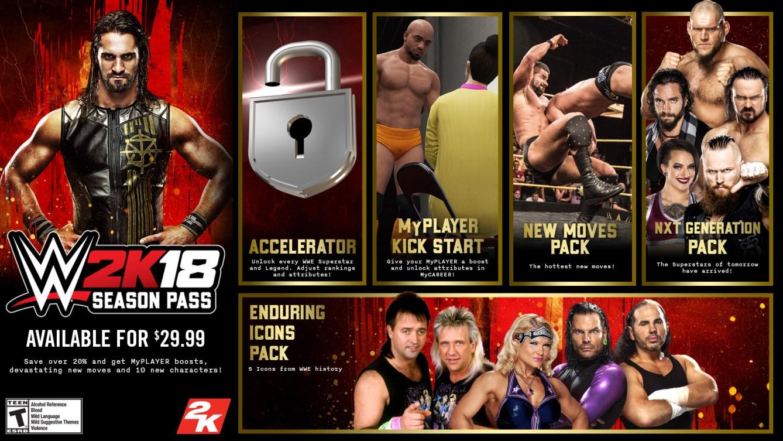 pase de temporada de WWE 2K18