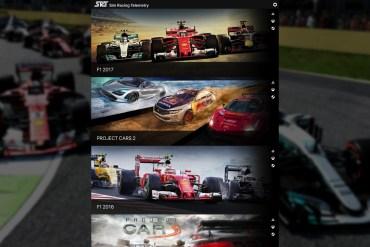 aplicación de Sim Racing Telemetry