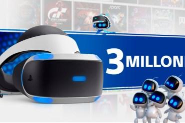 PlayStation VR supera los 3 millones de unidades