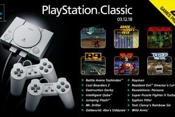 juegos que incluirá PlayStation Classic