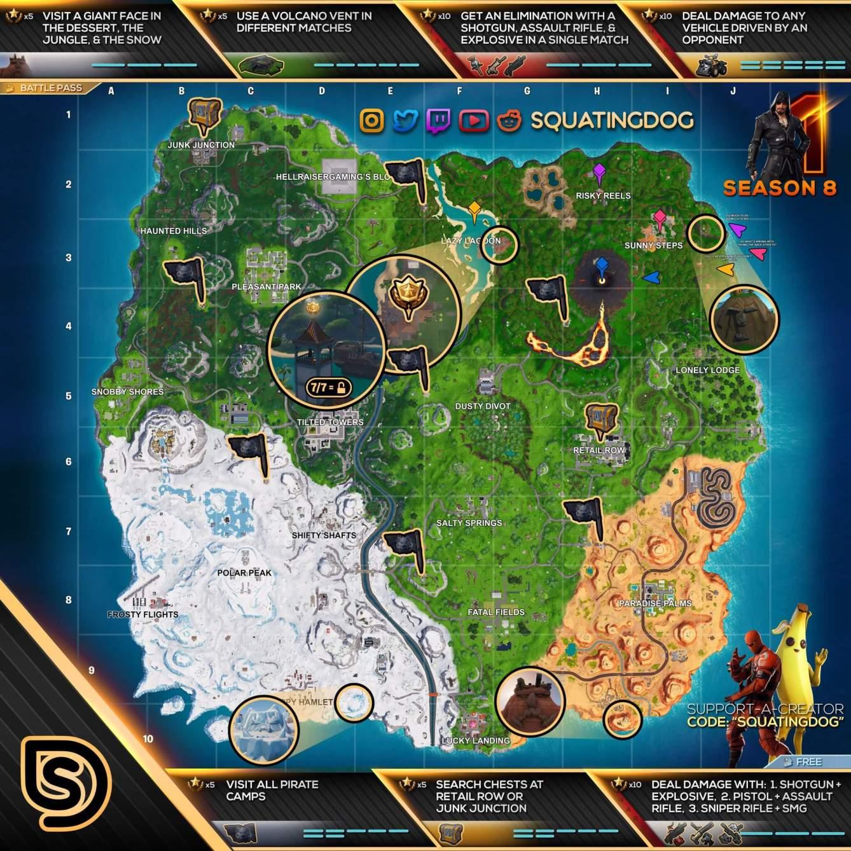 Fortnite Mapa semana 1 temporada 8