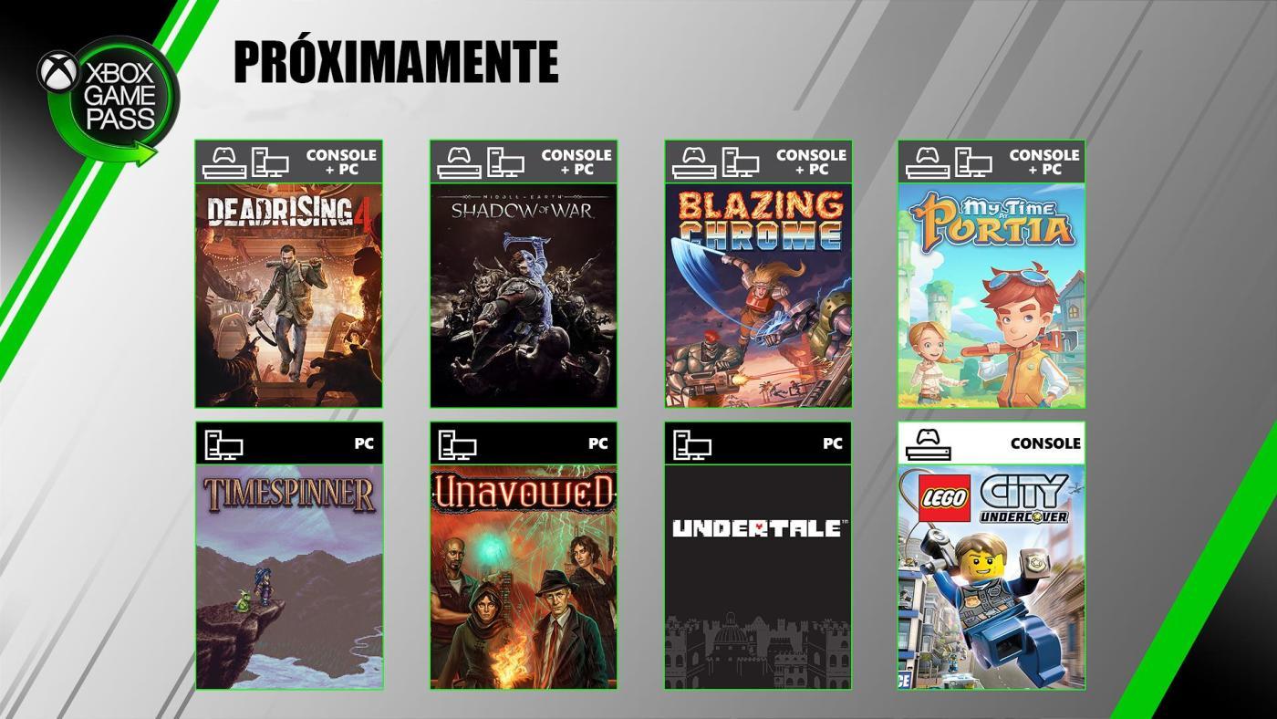Xbox Game Pass en julio 2019