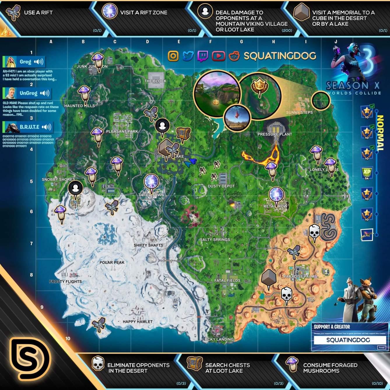 Fortnite Mapa normal semana 3 temporada