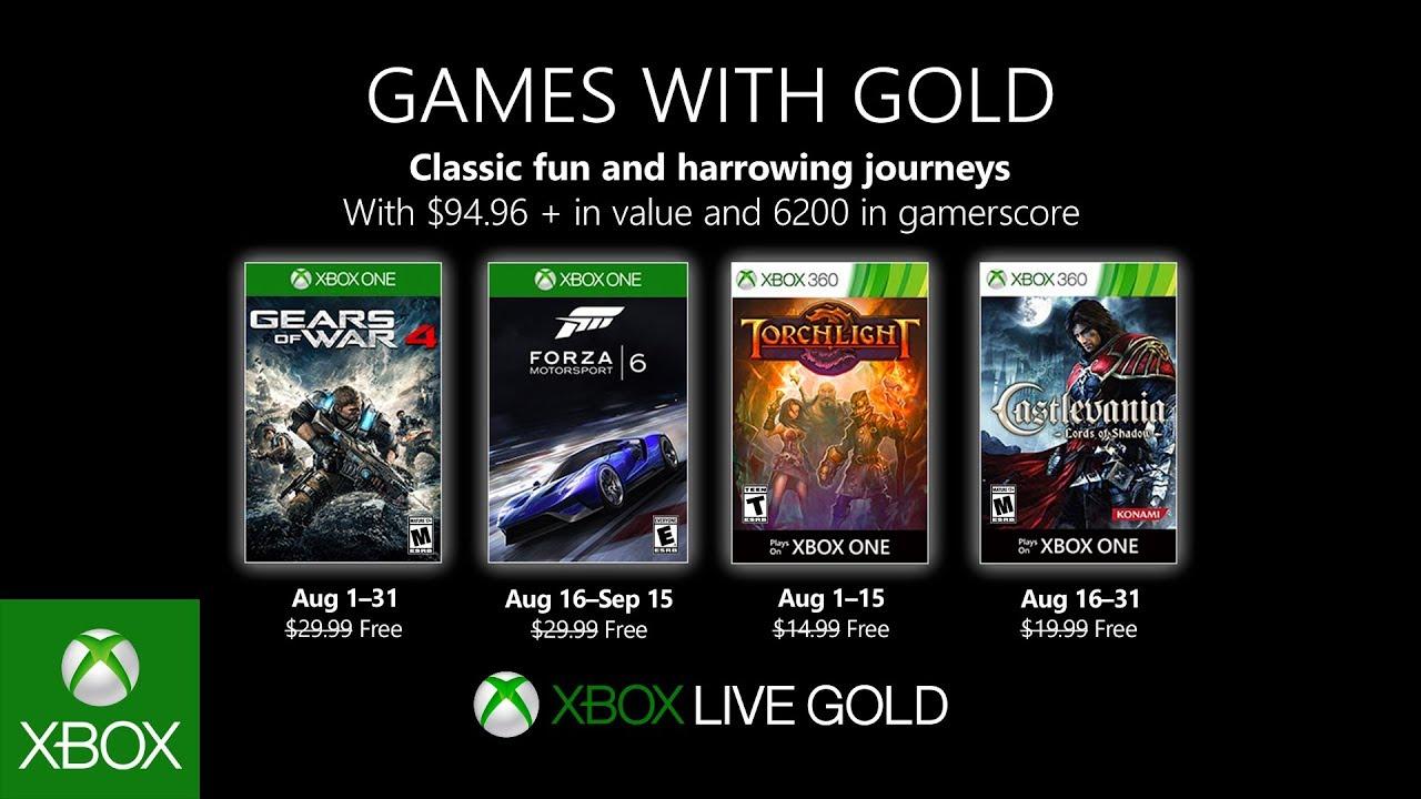 Xbox Live Gold Septiembre 2019