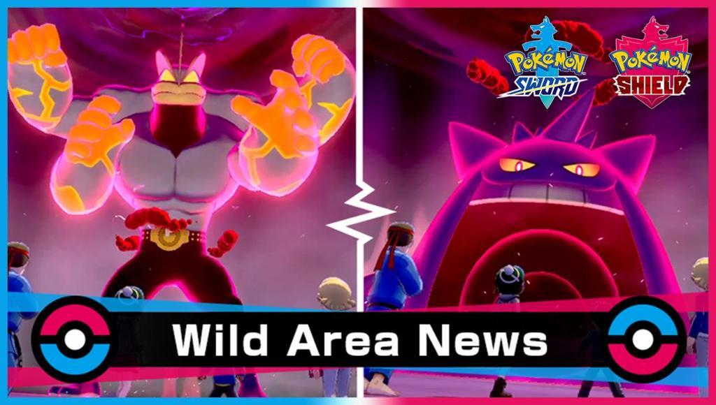 Gengar y Machamp saldrán más en incursiones de Pokémon Espada y Escudo