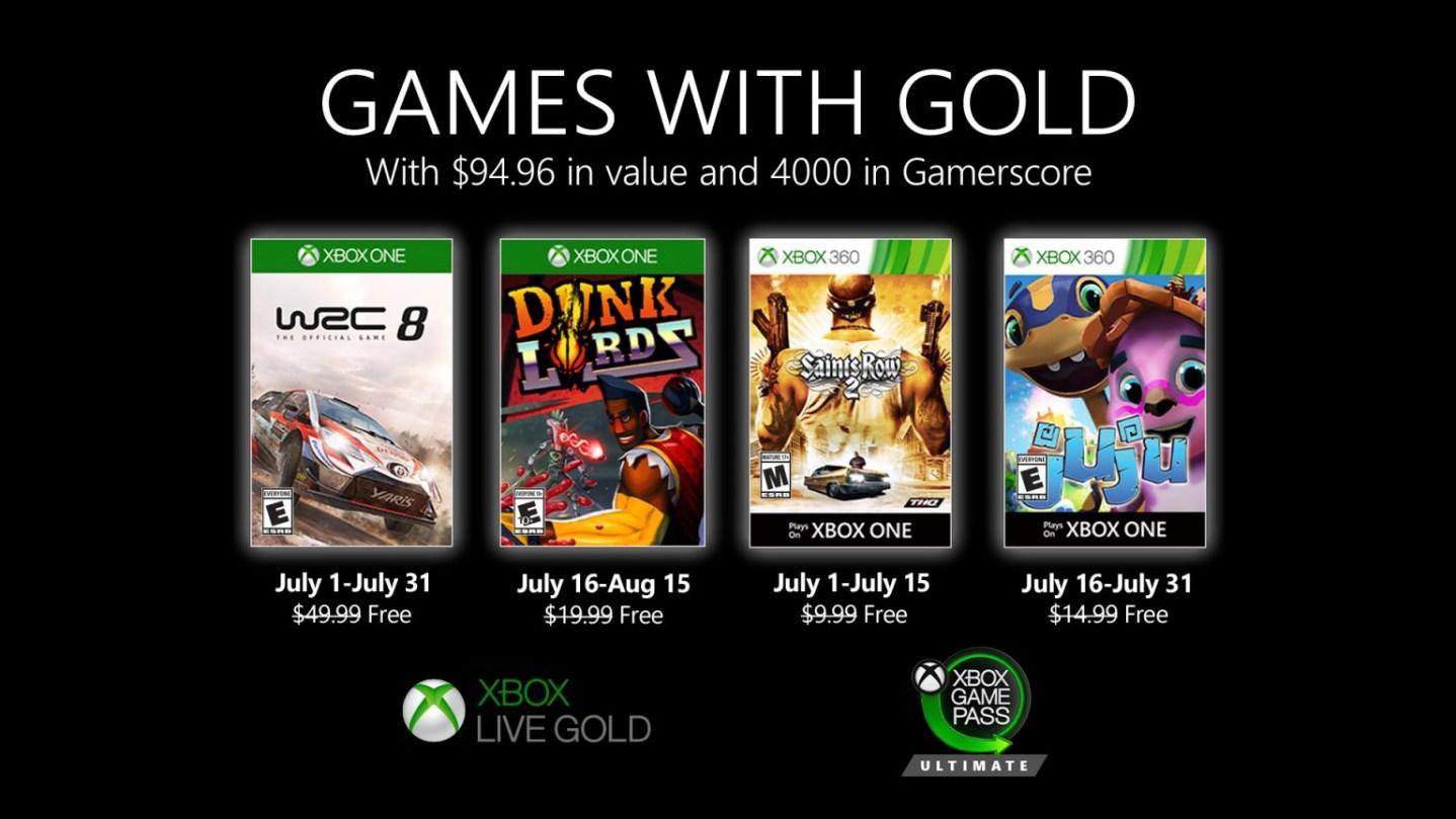 Xbox Gold de julio 2020