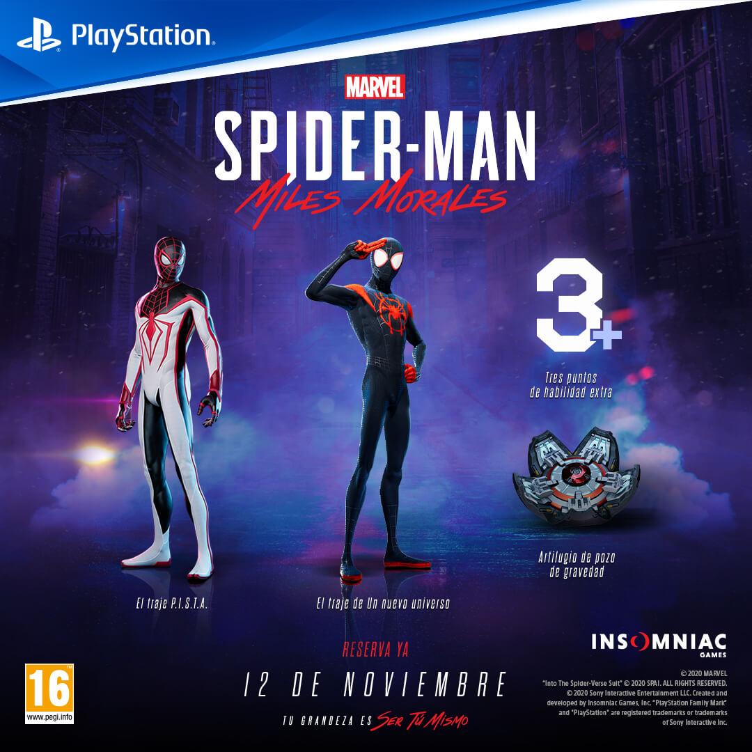 Spider Man Miles Morales Reservas