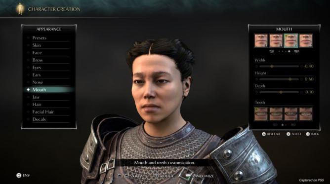 Demon's Souls Remake - Creador de personajes (3)