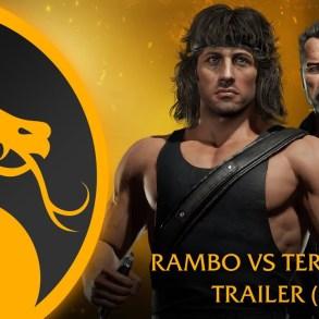 Mortal Kombat 11 Rambo contra Terminator
