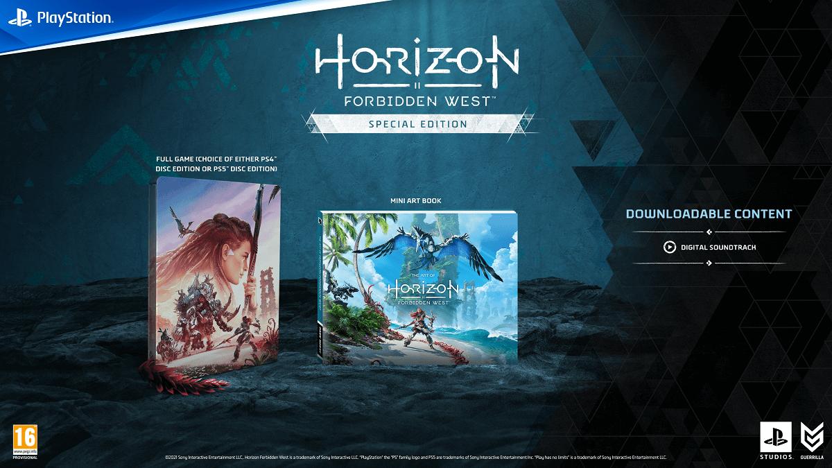 ediciones de Horizon Forbidden West