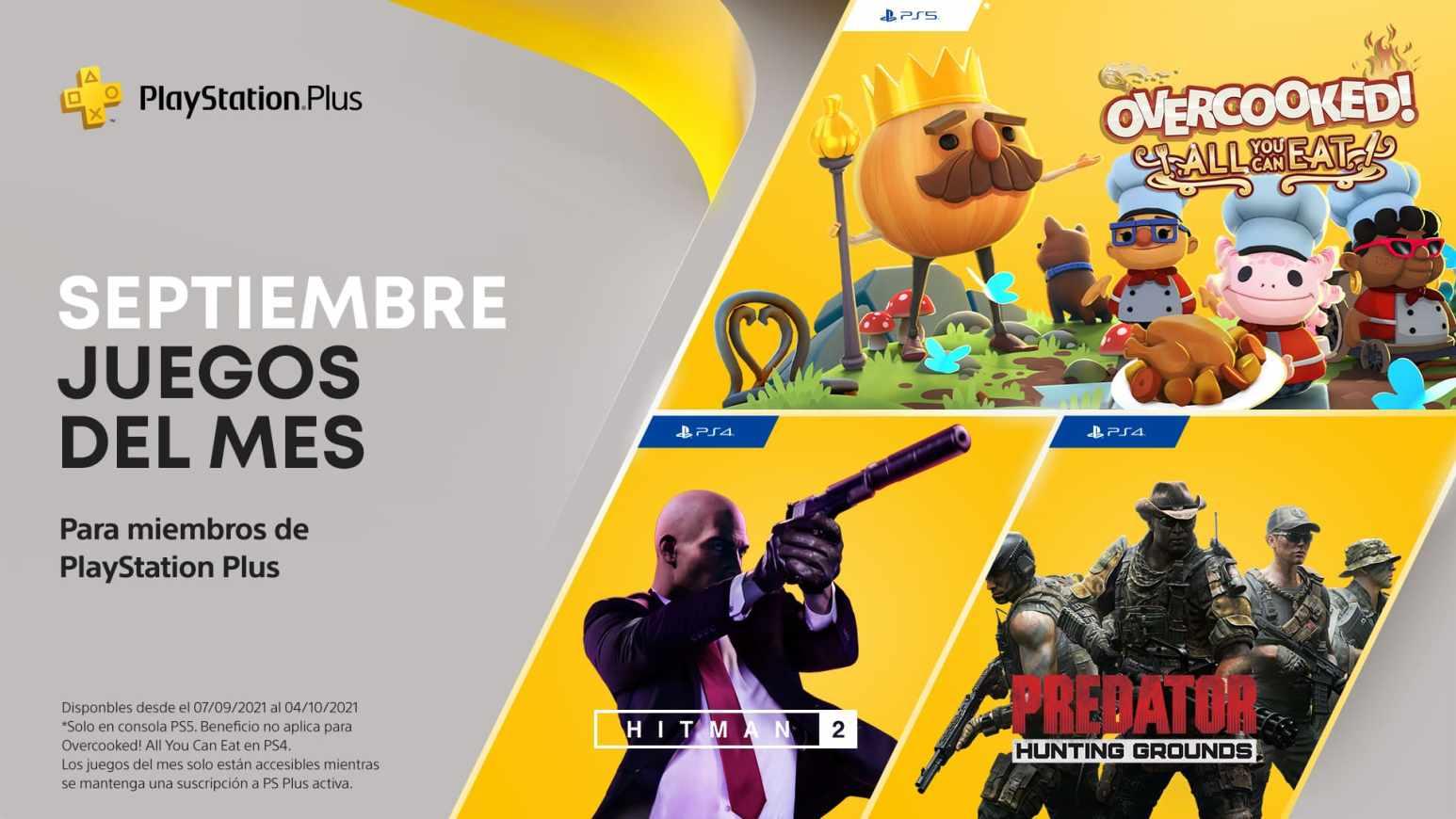 PlayStation Plus de septiembre 2021