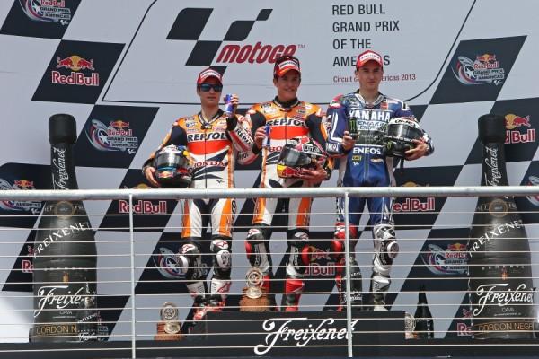 Pódium MotoGp Gran Premio de las Américas