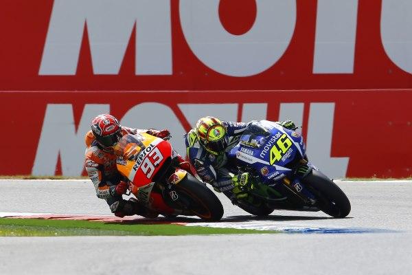 Valentino Rossi y Marc Márquez