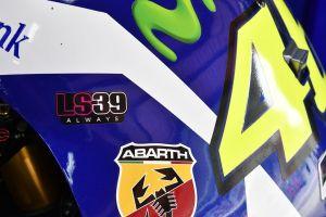 Detalle de la moto de Valentino Rossi