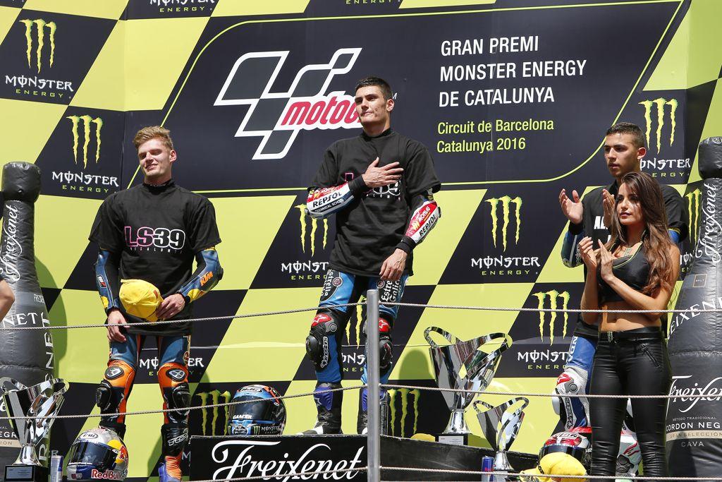 Navarro, Binder y Bastianini en el pódium del Gran Premi de Catalunya de Moto3