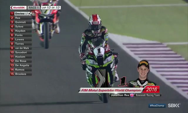 Jonathan Rea World Champion WorldSBK
