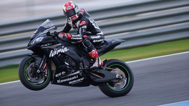Jonathan Rea durante los test de Superbike y MotoGp en Jerez