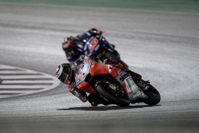 Jorge Lorenzo durante el Gran Premio de Qatar de MotoGp