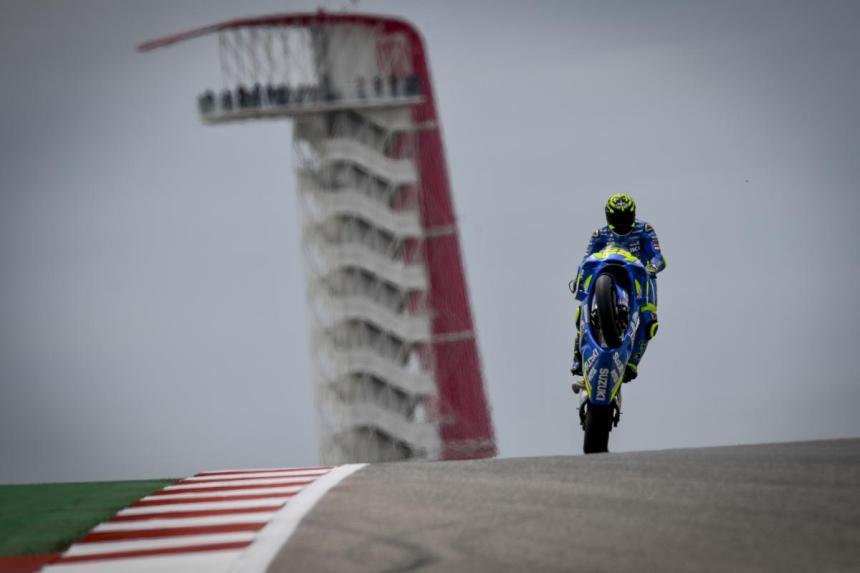 Andrea Iannone durante el Gran Premio de las Américas de MotoGP