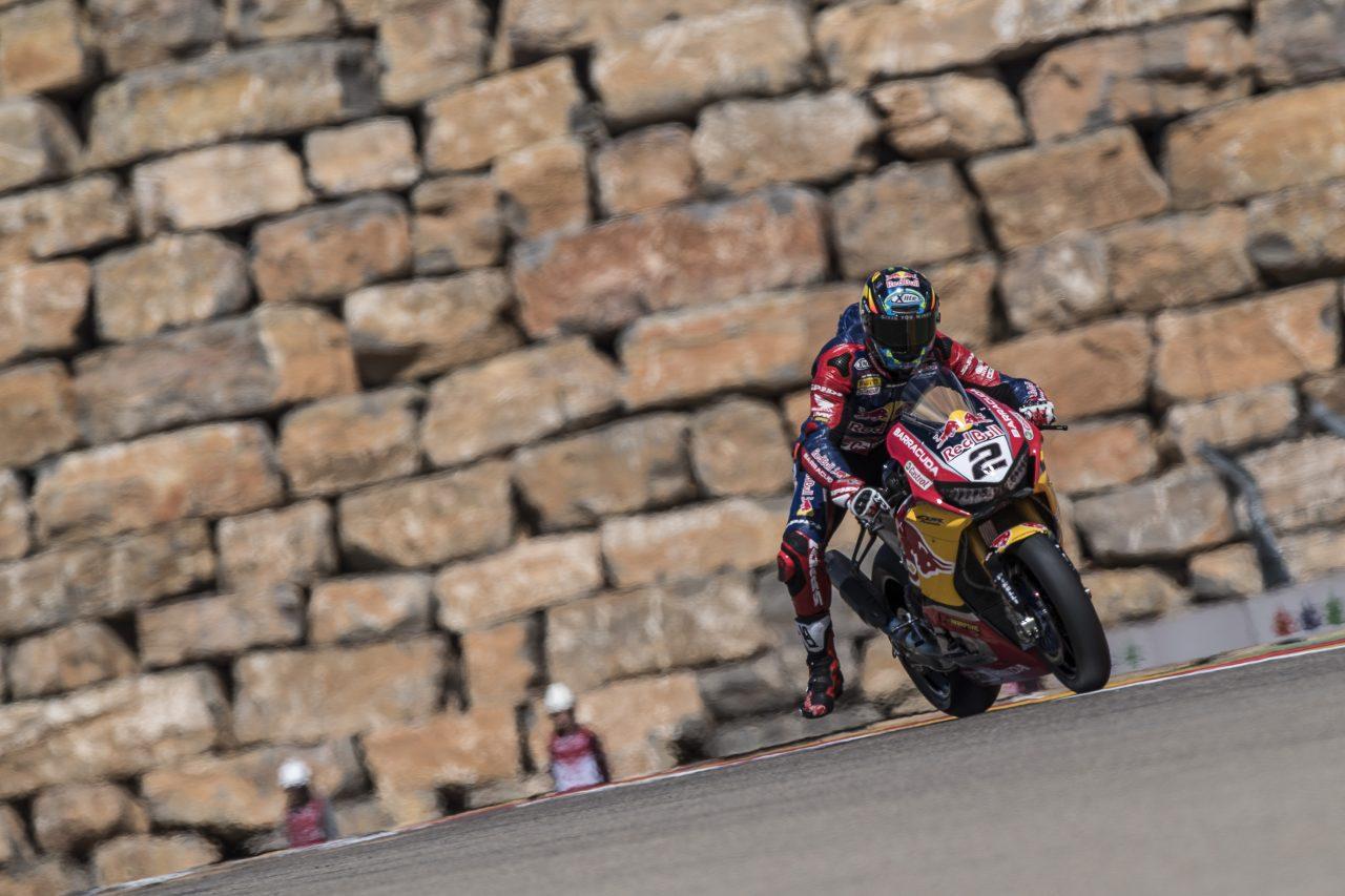 Leon Camier en Motorland Aragón