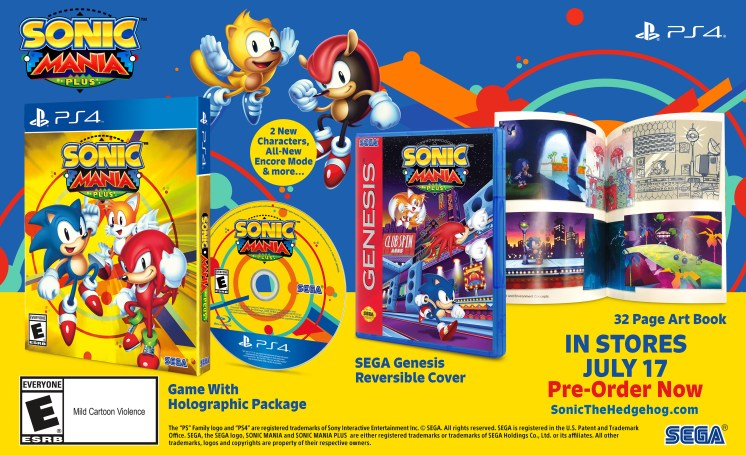 Sonic Mania Plus Physical Edition