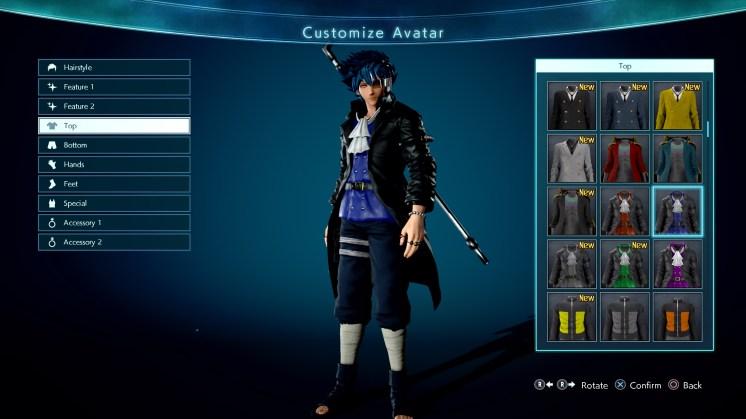 Jump Force Avatar Customization Screen 7