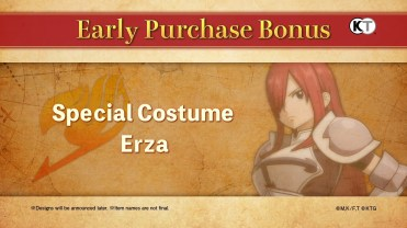 Fairy Tail Game Early Purchase Bonus