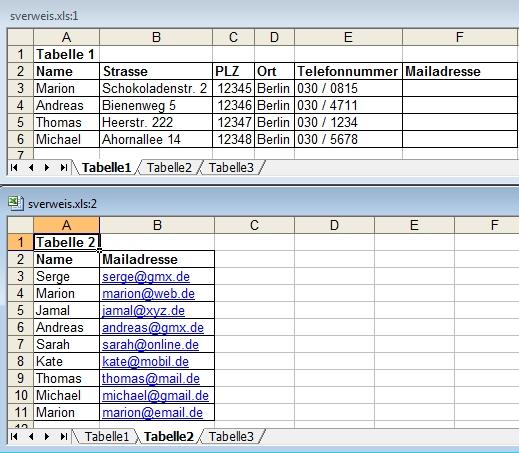 Excel: Beispiel für SVerweis mit 2 Tabellen | PC-Notfallhilfe