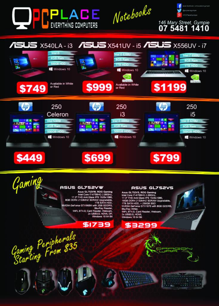 PCPLACE Notebook Catalogue