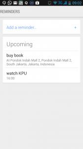 Setiap reminder akan muncul di Google Now Android kamu