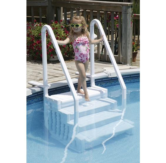 Easy Pool Step For Above Ground Pools Pc Pools