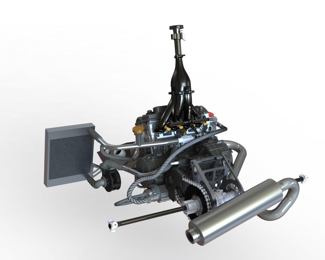 Bolton WorksSolid Works Assembly 2009 Honda CBR600RR Engine (18)
