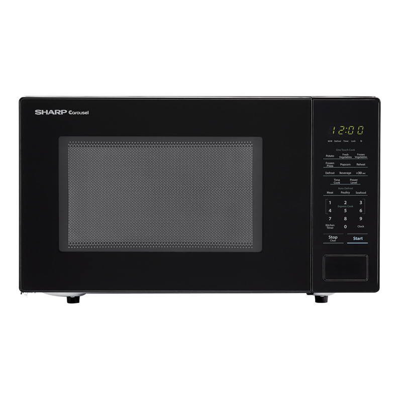 sharp 20 1 1 cu ft countertop microwave with 10 power levels sensor cooking control black