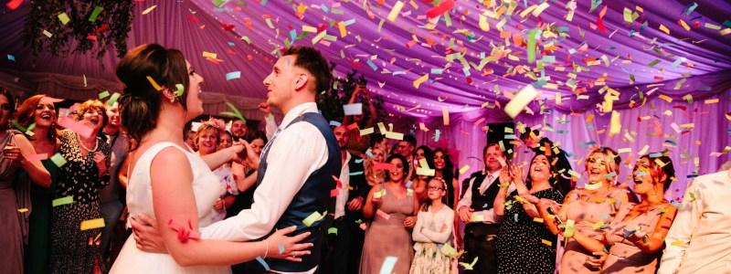 confetti first dance