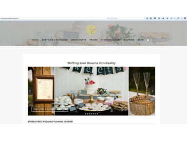 Visionary Events Planning Website